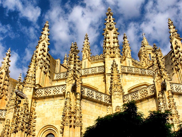 Free segovia spain cathedral church architecture sky