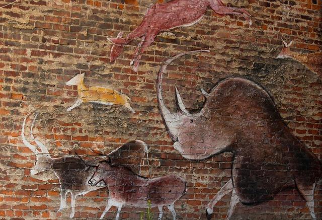 Free wall mural prehistoric style street art graffiti