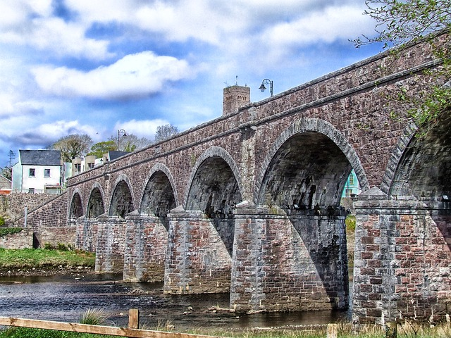 Free newport ireland bridge sky clouds stone arch