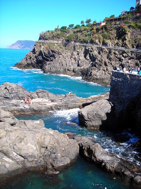Free coast rocky sea azure italy sky blue beach