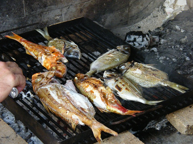 Free fish barbecue sea delicious healthy frisch eat