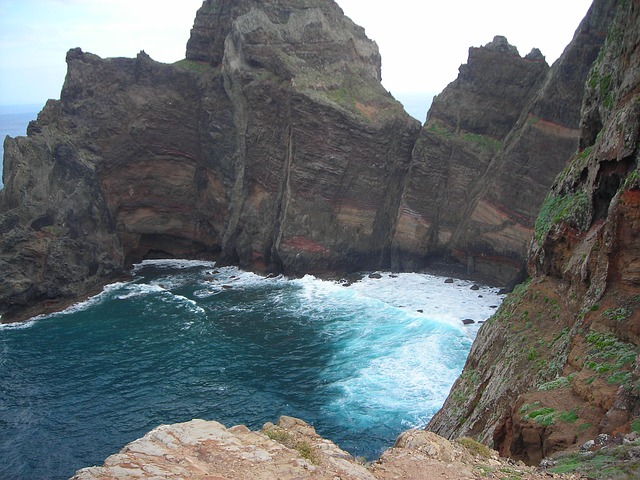 Free madeira east coast island atlantic sea ocean rock