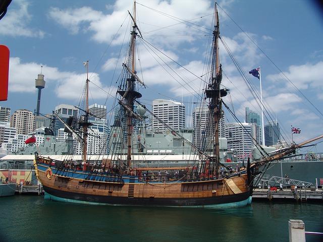 Free endeavour captain cook ship sailing vessel rigging