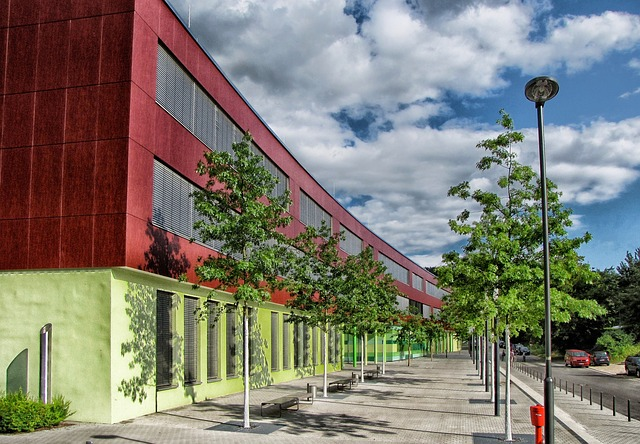 Free darmstadt germany school building architecture sky