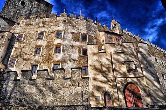 Free lienz germany castle bruck sky clouds building