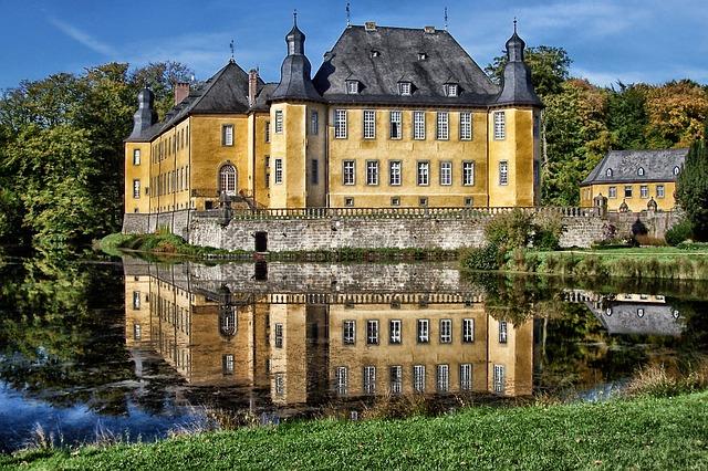 Free juchen germany dyck castle building landmark