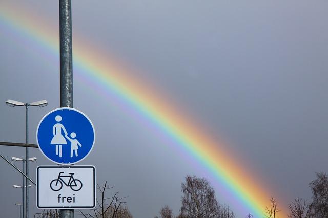 Free rainbow atmospheric optical phenomena