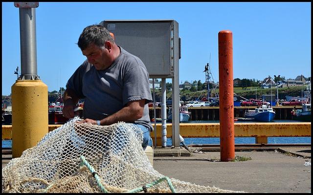 Free fisher fisherman fishing net fishnet fishing craft