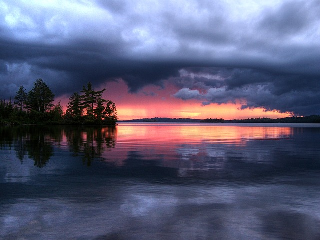 Free reflection clouds dramatic storm