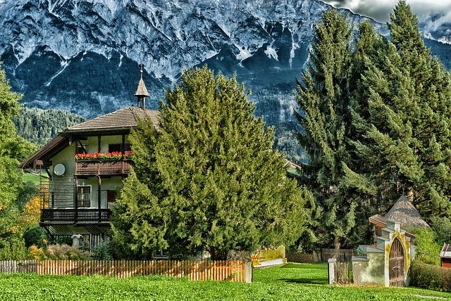 Free volders austria landscape house home villa scenic