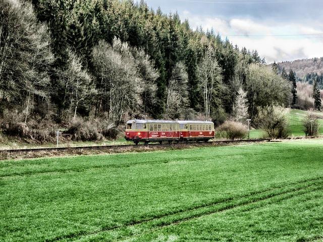 Free germany landscape scenic train tram railroad