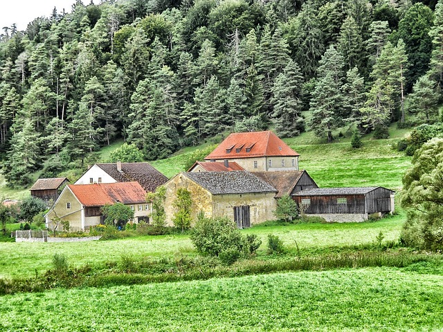 Free germany landscape farm scenic valley barn house