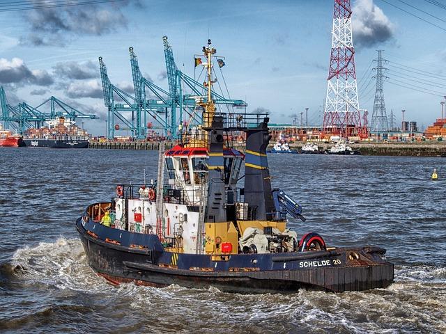 Free               antwerp belgium boat tugboat harbor bay water