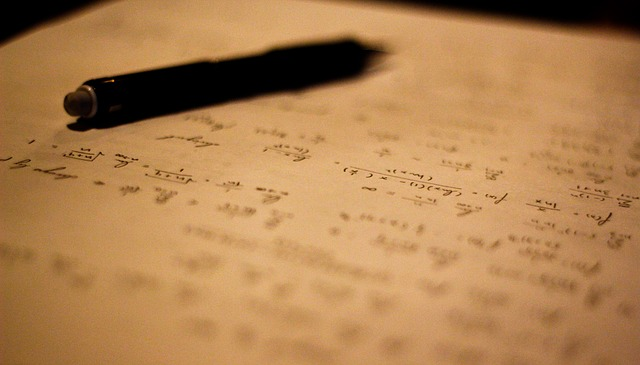 Free writing cursive pen math calculus symbol journal