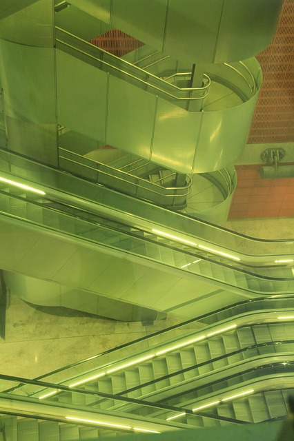 Free stairs escalator architecture terminal interior