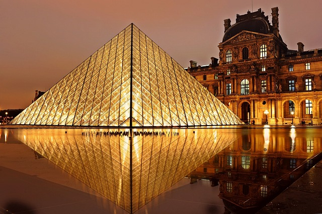 Free                louvre pyramid paris architecture tourism
