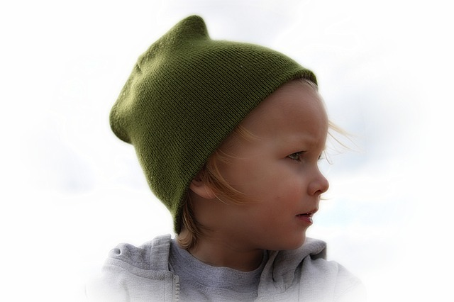Free boy baby face child hat portrait