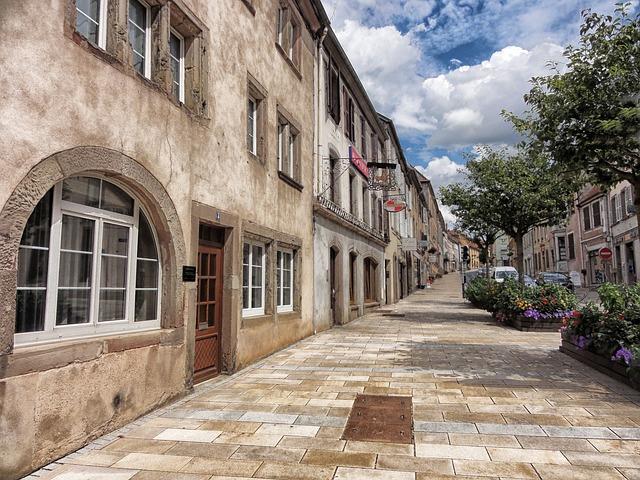 Free sarre-union france town village buildings street