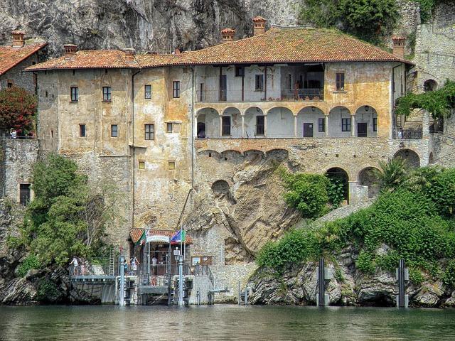 Free santa caterina del sasso italy monastery buildings