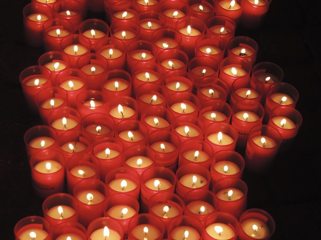 Free candles pray red think holy fire warm light