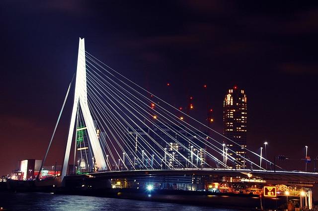 Free rotterdam bridge architecture holland erasmus