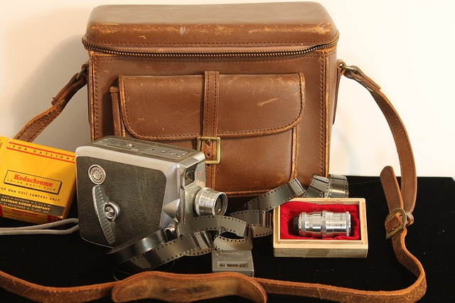 Free antique camera film leather bag lenses keystone