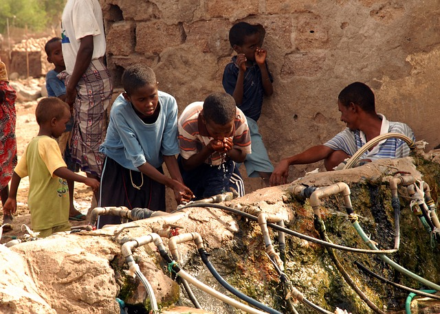 Free nagad dijbouti children boys man water drinking