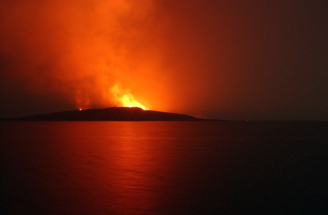 Free jabal yemeni volcano eruption fire flames red
