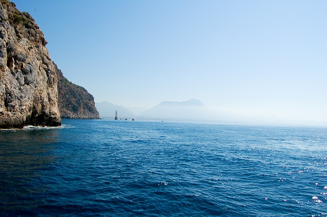 Free sea turkey fog ship ocean nature calm