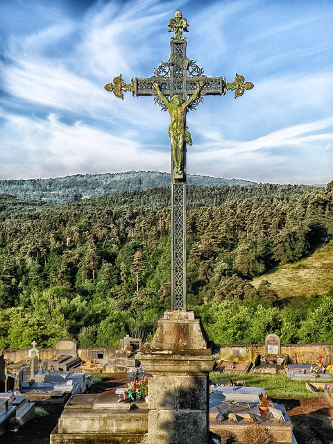 Free puy-de-dome france cross jesus christ religious