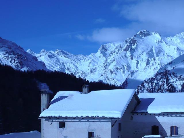 Free maloja switzerland mountains winter snow ice sky