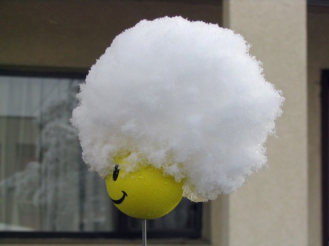 Free smiley antenna topper snow hat
