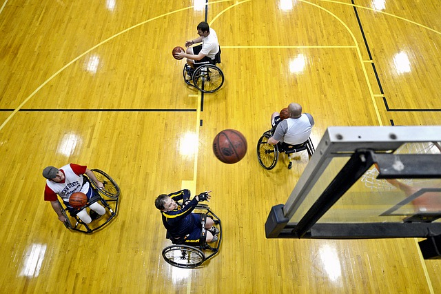 Free basketball court shooting ball players disabled