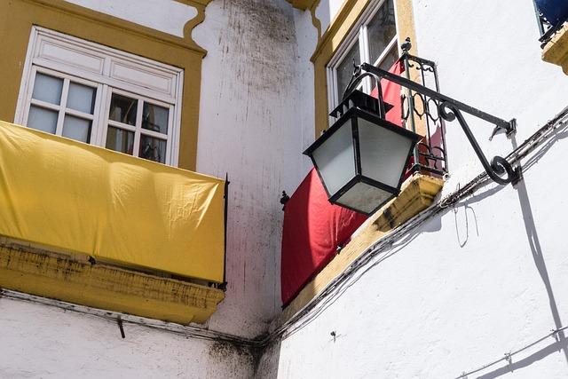 Free balcony window facade apartment people