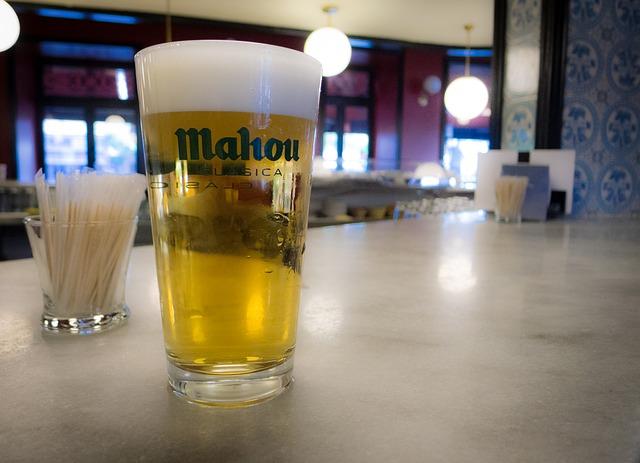 Free beer madrid white cross mahou bar