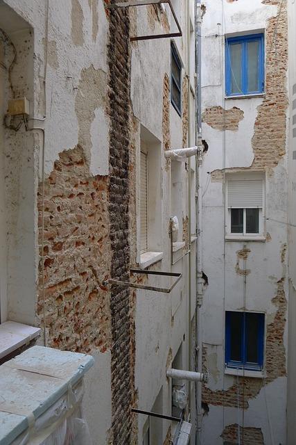 Free reform patio house inside brick window wall