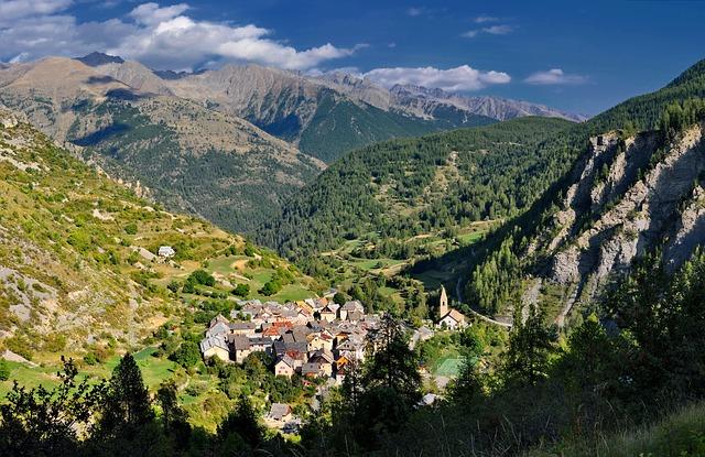 Free saint dalmas france village buildings houses sky