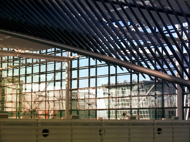 Free glass metal roof construction architecture