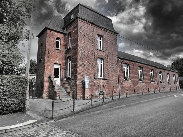 Free sains du nord france school building architecture