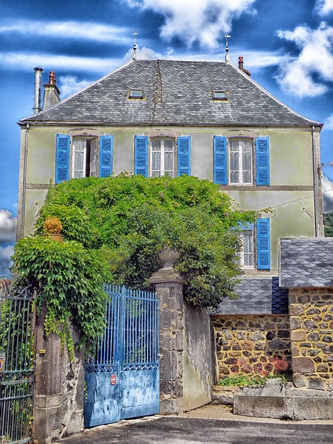 Free saillant france house home architecture trees