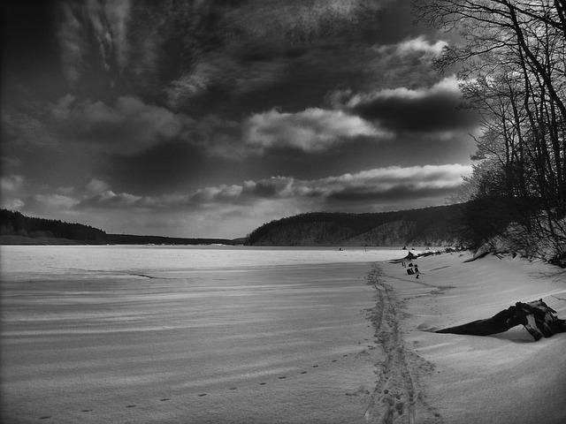 Free russia landscape scenic sky clouds water frozen