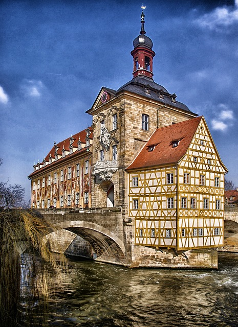 Free bamberg germany town hall building landmark sky