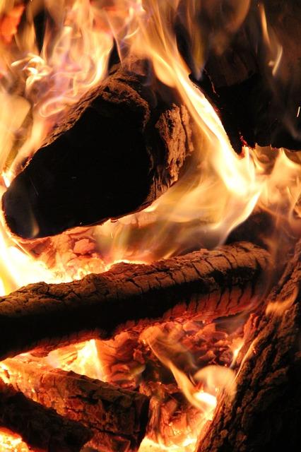 Free fireplace fire wood flame heat firewood