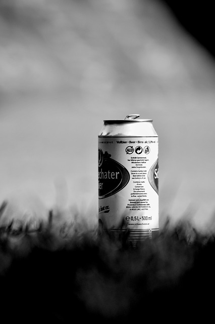 Free can beer grass black and white photography solitude
