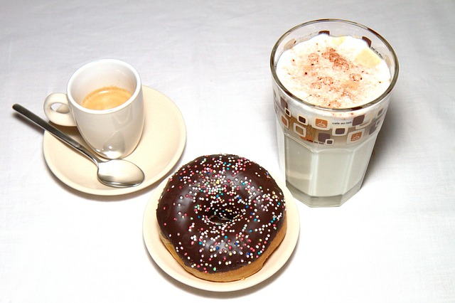 Free batten macchiato coffee donut doughnut candy food