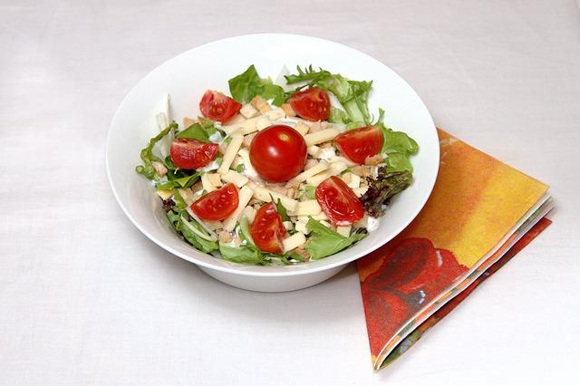 Free eat salad food tomato