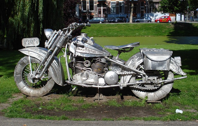 Free rotterdam netherlands sculpture cycle motorcycle