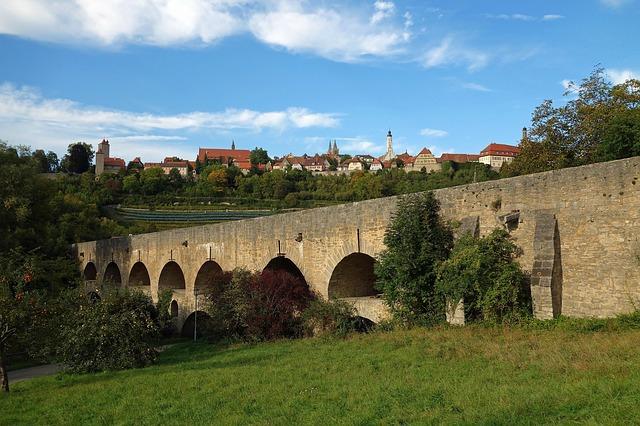 Free rothenburg ob der tauber germany bridge roman stone