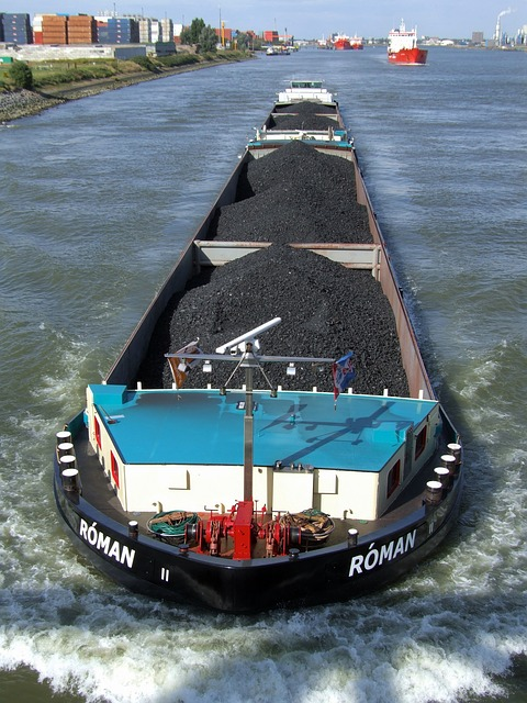 Free barge ship boat coal energy canal water waterway