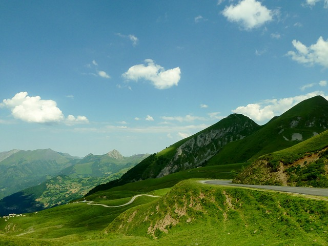 Free Photos: France landscape mountains scenic sky clouds road | David Mark